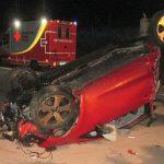 Auto überschlägt sich auf der A71 - Fahrer schwer verletzt