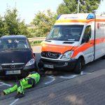 Drei Verletzte nach Unfall mit Rettungswagen in Erfurt