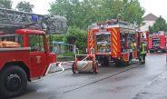 Kellerbrand in Gotha: Schwarzer Rauch drang aus Wohngebäude