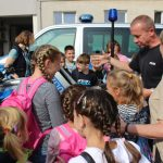Kinder aus Tschernobyl besuchen Polizei in Jena