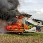 Hoher Sachschaden: Mähdrescher bei Remptendorf ausgebrannt