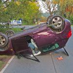 Vorfahrt nicht beachtet: PKW überschlägt sich in Jena
