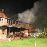 Scheune eines Dreiseitenhofes im Landkreis Sömmerda abgebrannt