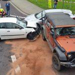 Zwei Verletzte nach Unfall mit drei Autos in Bad Berka