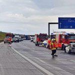 BMW überschlug sich auf A4 bei Bucha und ging in Flammen auf