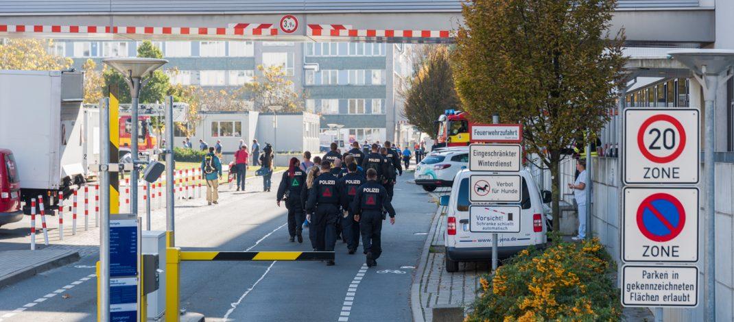 Bombendrohung im Universitätsklinikum in Jena eingegangen