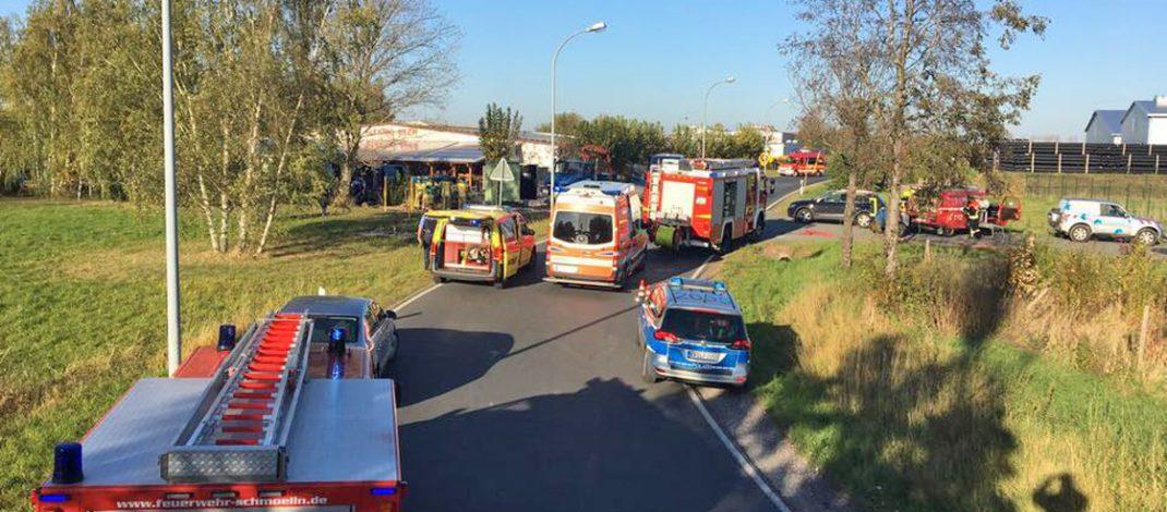 Drei Schwerverletzte nach Arbeitsunfall in Schmölln