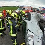 Am Steuer eingeschlafen: Unfall auf A4 bei Ronneburg