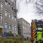 Schule evakuiert: Papierhandtuchhalter in Gera in Brand gesetzt