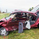 Fahrer eingeklemmt: Heftiger Zusammenstoß auf der B7