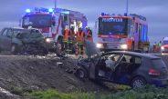Schwerverletzte nach Frontalzusammenstoß bei Erfurt