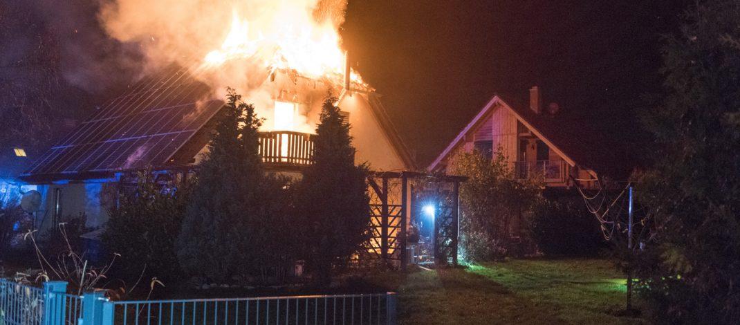 Einfamilienhaus nach Brand in Blankenhain komplett zerstört