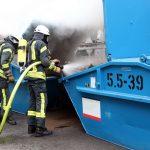 Containerbrand sorgt für aufwendigen Einsatz in Heiligenstadt