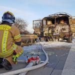 Bundeswehr-Laster auf der A4 bei Ronneburg in Brand geraten