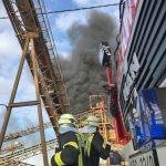 Brand im Kieswerk Kraasa durch Schweißarbeiten ausgelöst