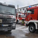 Müllfahrzeug fing Feuer auf Werkstattgelände in Hildburghausen