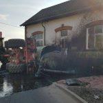 Gülletank in Treffurt umgestürzt: Jauche verteilte sich großflächig