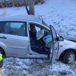 Schneeglätte führt zu Verkehrsunfall bei Zeulenroda-Triebes