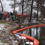 Auto rollt los: Öl landet in Hildburghausen im Teich