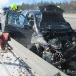 Auto übersehen: Zwei Personen bei Unfall auf A9 verletzt