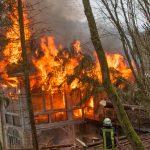 Altes Sanatorium bei Nordhausen nach Brand eingestürzt