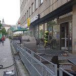 Feuerwehrmann bei Brand in Geraer Schnellrestaurant verletzt
