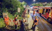 BMW-Fahrer zerstört Brückengeländer in Erfurt