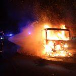 LKW-Brand rief Florian Heiligenstadt in der Nacht auf den Plan