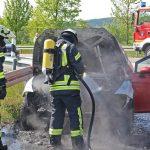 PKW-Brand in Heiligenstadt innerhalb weniger Minuten gelöscht