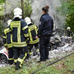 Zwei Menschen verbrennen in Südthüringen im Unfallwrack