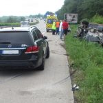 LKW erfasst ungebremst Pannenfahrzeug auf A4 bei Waltershausen