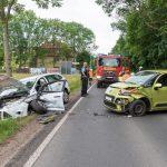 In Gegenverkehr geraten: Schwerverletzte auf B7 bei Weimar