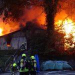 Feuerwehr löscht Gebäudebrand in Geraer Stadtwald