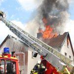 Großbrand zerstört Wohnhaus in Kalteneber im Eichsfeld