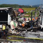 Transporter eingequetscht: Fahrer stirbt bei schwerem Unfall auf A9