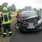 Auto übersehen: Frau nach Unfall bei Gotha leicht verletzt