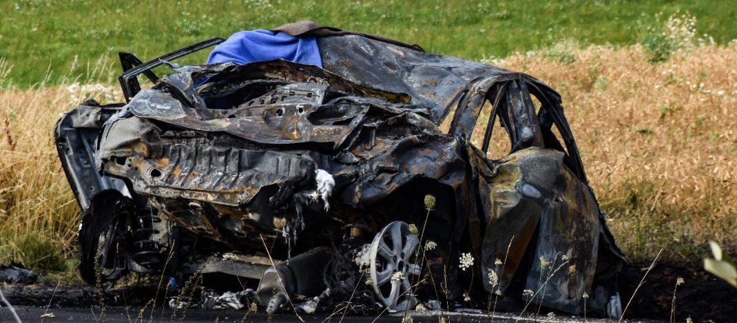 Im Auto verbrannt: Tödlicher Unfall in Südthüringen
