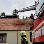 Pflanzenreste in Stadtroda entfernt- Dachstuhl brennt ab