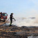 Feld nahe Bischhagen geriet bei Erntearbeiten in Brand