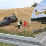 Auto überschlagen: Zwei Schwerverletzte bei Unfall auf A9
