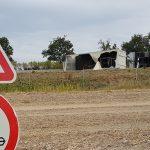 Gefahrgutlaster verunglückt auf A4 - Unfall mit Feuerwehrfahrzeug