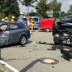Vorfahrt missachtet: Drei Fahrzeuginsassen im Ilm-Kreis schwer verletzt