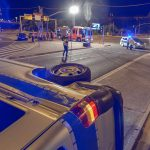Schwerer Verkehrsunfall mit Streifenwagen der Erfurter Polizei