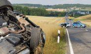 Schwerer Verkehrsunfall im Weimarer Land nahe Landesgrenze