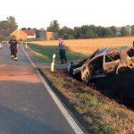 VW Golf brennt nach Vorfahrtsfehler bei Gotha vollständig aus