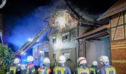 Haus zerstört: Hoher Sachschaden nach Dachstuhlbrand im Ilm-Kreis