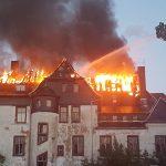 Ehemaliges Rittergut in Gera stand in Flammen
