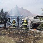 Schuppen in Bielen im Landkreis Nordhausen durch Brand zerstört