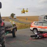 Traktor missachtet Vorfahrt: Motorradfahrer im Saale-Orla-Kreis schwer verletzt