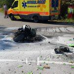 Motorrad nach Unfall bei Crawinkel ausgebrannt – Kradfahrer schwer verletzt